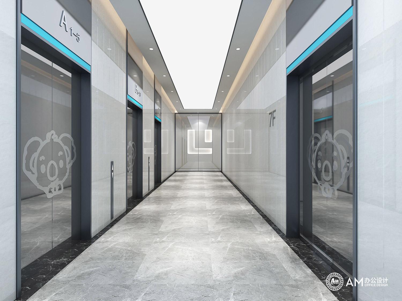 AM设计 | 拉卡拉控股集团办公楼走廊设计