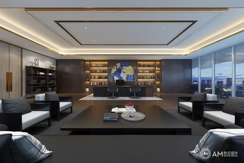AM设计 | 拉卡拉控股集团办公楼领导办公室设计
