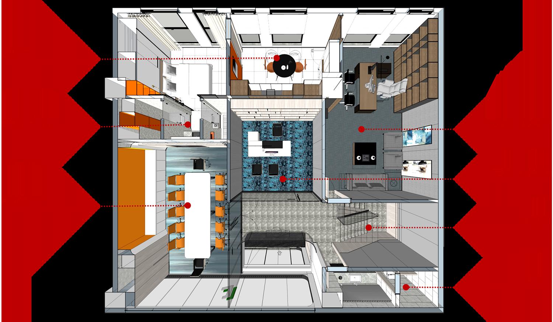 AM设计 | 建玲思雨LOFT办公二层设计