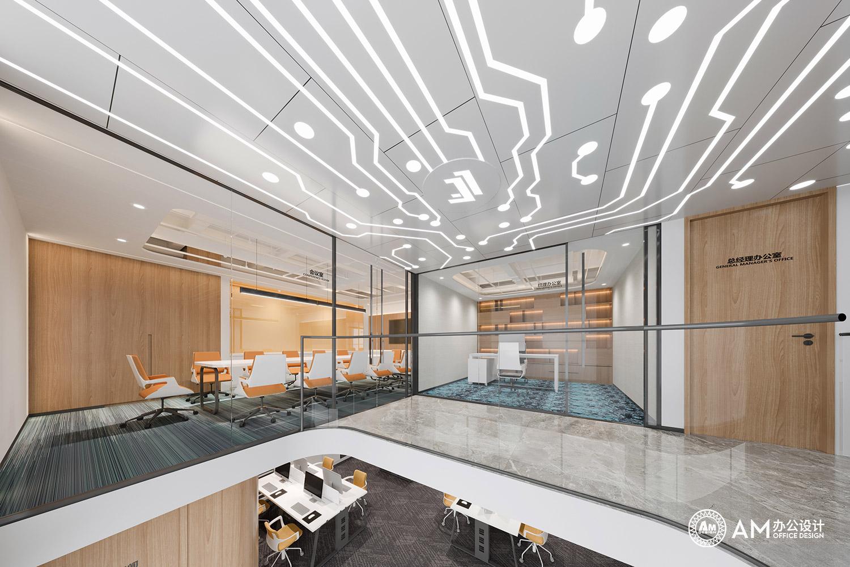 AM设计 | 建玲思雨LOFT办公会议室&经理办公室设计