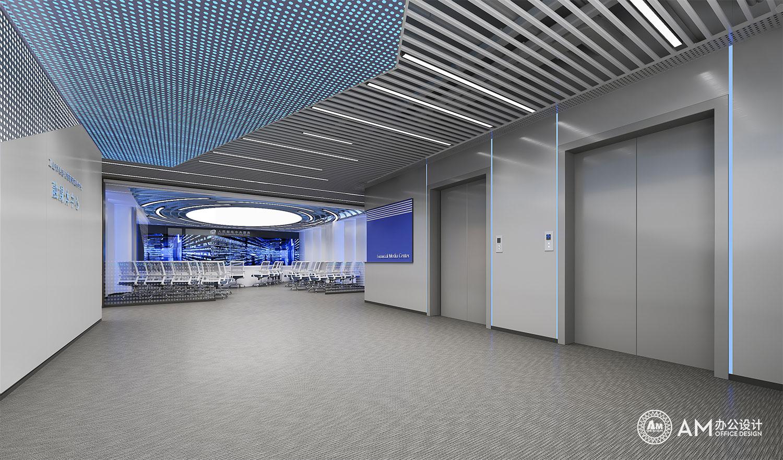 AM设计 | 人民邮电办公空间电梯间设计