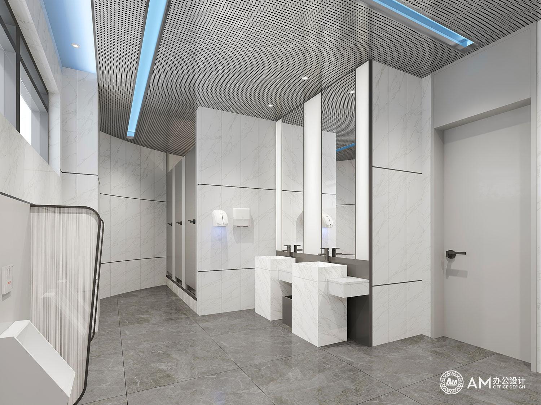 AM设计 | 人民邮电办公空间卫生间设计