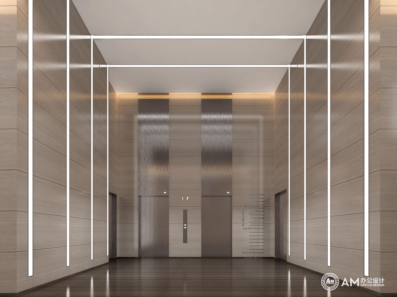 AM设计   润诚中心办公楼园区规划电梯间设计