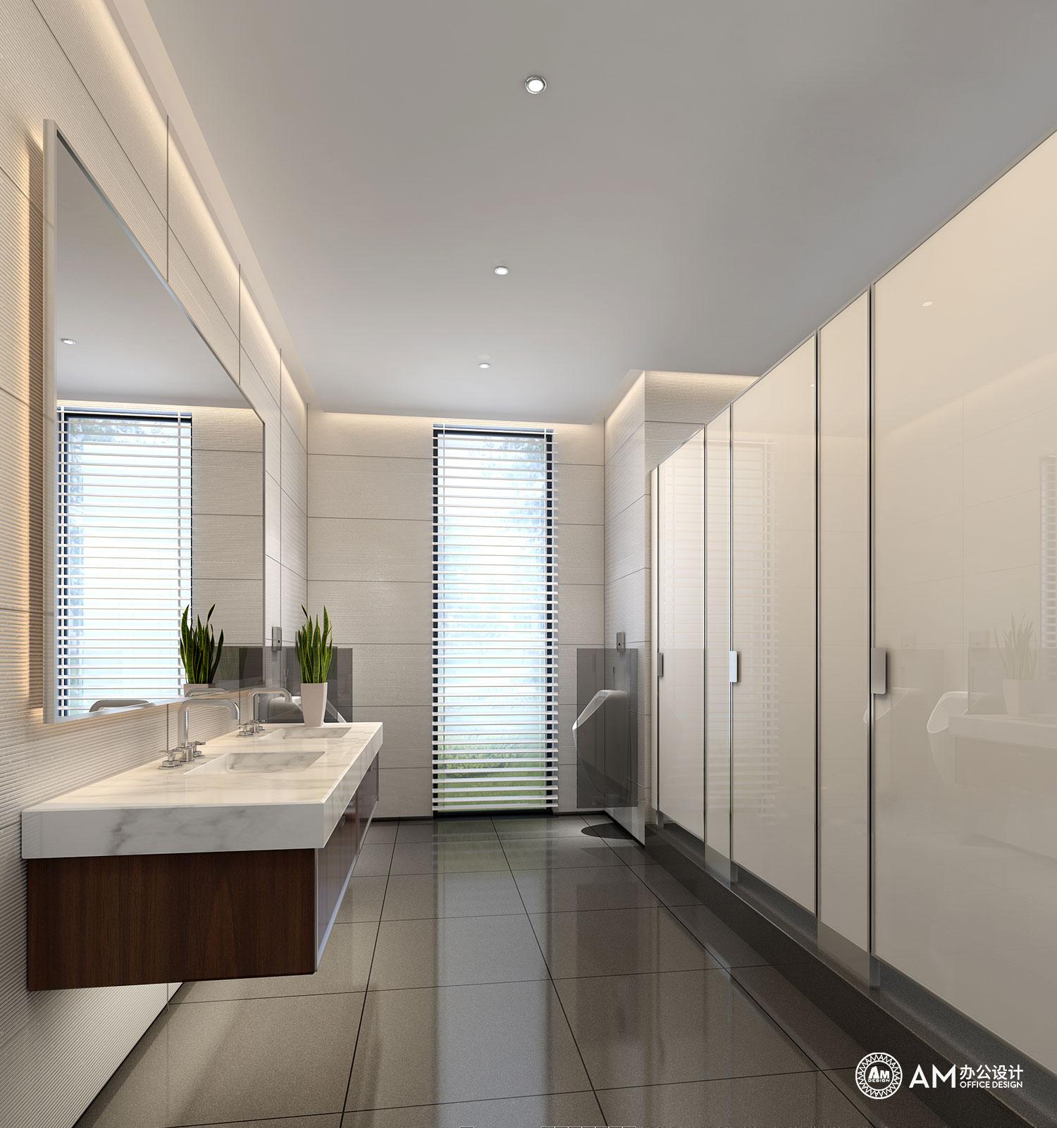 AM设计   润诚中心办公楼园区规划卫生间设计